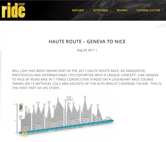 RIDE Cycling Review August 2011