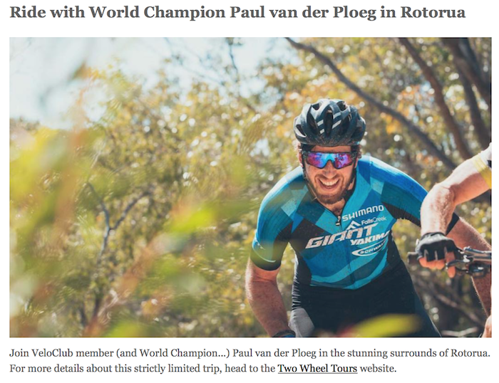 Ride with Paul van der Ploeg